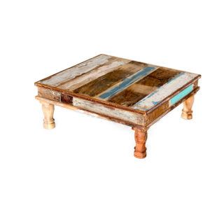 C-020 Recycled wood low coffee table L