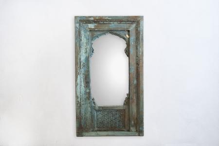M016-blue-old-door-mirror-India