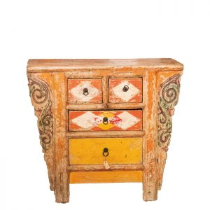 K-011 Chinese antique cabinet yellow/orange