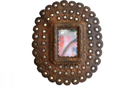 M-005 peacock mirror small