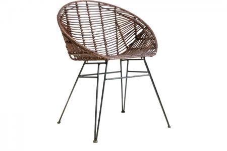 S-028 indoor braun dining chair