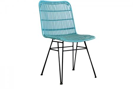 S-029 outdoor blue dining chair