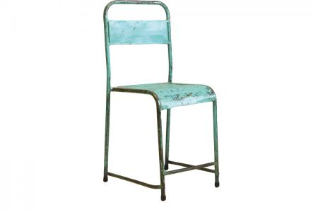 S-030 industrial iron chair green