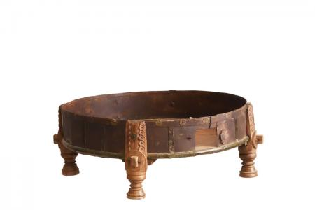 CT-013 old round coffee-table